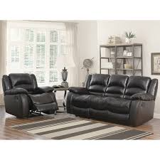 Sofa And Armchair Set Abbyson Brownstone Top Grain Leather Reclining 2 Piece Living Room