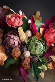 floral arrangements for thanksgiving table crepe paper floral arrangement for your thanksgiving table