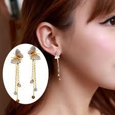 earrings girl butterfly tassel dangle drop earrings bridesmaid girl