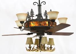 Ceiling Fan And Chandelier Chandelier Rustic Wildlife Editonline Us
