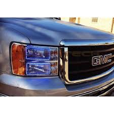 led halo headlight accent lights gmc sierra v 3 fusion color change led halo headlight kit 2008 2013