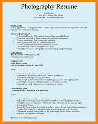 Sample Resume For Photographer by Old Version Sample Photographer Resume Sample Template