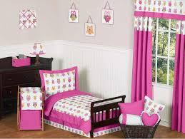beauteous owl themed toddler bedroom sets in pink color with