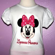 disney minnie mouse shirt with pink bow custom minnie mouse