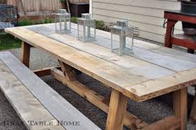 Building A Picnic Table Without Benches by Restoration Hardware Inspired Outdoor Table And Benches