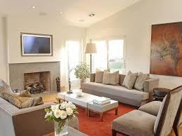 Living Room Ideas Beige Sofa Gray Coffee Table Stone Fireplace Orange Wall Art Beige Sofa Side