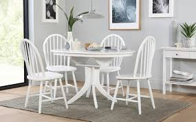 White Extending Dining Tables Dining Room Outstanding Milton Square White Table And 4 Windsor