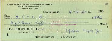lot detail trio of vintage signed personal checks