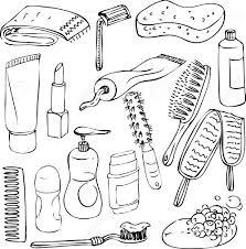 dessiner salle de bain croquis d u0027objets de salle de bains éléments vectoriels dessinés à