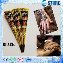 new black indian henna tattoo paste tube cone body art temporary