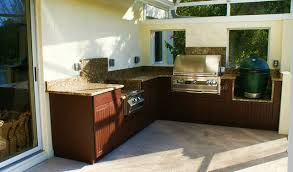 Weatherproof Polymer Cabinetry In Southwest FloridaOutdoor Kitchen - Outdoor kitchen cabinets polymer