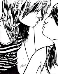 Emo Hairstyles Drawings by Drawn Emo Kiss Pencil And In Color Drawn Emo Kiss