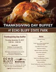 thanksgiving day buffet echo bluff state park