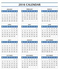 2016 calendar 16 free printable word templates yearly template one