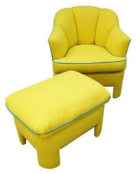 Vintage Ottoman by Vintage 80s Yellow Club Chair U0026 Ottoman Chairish