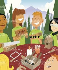 kids camp crafts c 일러스트 475406805 istock