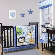 Safari Crib Bedding Set Baby Crib Bedding Set Blue Jungle Safari Animals Baby