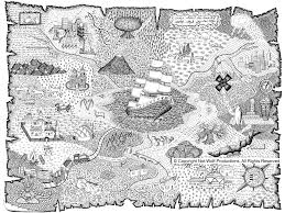 treasure map coloring pages to download and print for free
