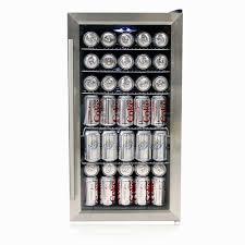 coca cola fridge glass door amazon com whynter br 125sd beverage refrigerator stainless