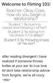 Flirty Memes For Him - welcome to flirting 101 teacher okay class how do you begin a