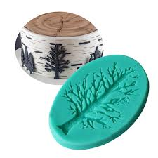 diy cake border tree shaped silicone molds decorations