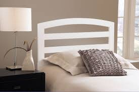 Simple Wooden Beds Bedroom Furniture Wooden Bed White Solid Wood Headboard Tall