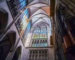 Cologne Cathedral Interior Cathedral Cologne Interiour Architecture Wide Angle Stock Photo