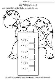 easy addition worksheets worksheets