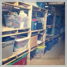 pallet shelves in our basement simply janelle designs