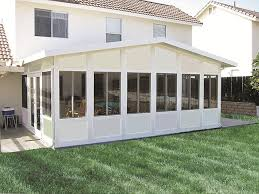 Aluminum Awning Kits Patio House Near Wood With Cream Colored Wooden Wall And Patio