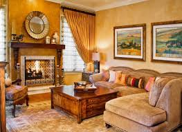 Tuscan Style Curtains Tuscan Colors For Living Room With Place And Sofa Also