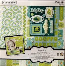 Colorbok Scrapbook Colorbok 12 X 12 Baby Boy Scrapbook Page Kit Baby Boy Scrapbook