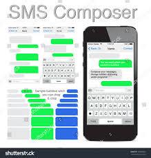 smart phone chatting sms template bubbles imagem vetorial de banco
