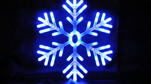 led lights shooting snowflake 60cm blue and white