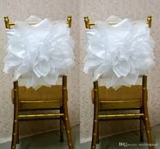Chair Sashes Wedding 2017 2015 Chair Sash For Weddings With Big Organza 3d Flowers