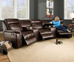 Leather Recliner Sectional Sofa Furniture Using Curved Sectional Sofa For An Exciting Living Room