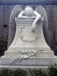 cemetery statues angel of grief