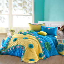 Navy And Yellow Bedding Bedroom Cute And Chic Ruffle Bedding For Comfort Bedroom Idea