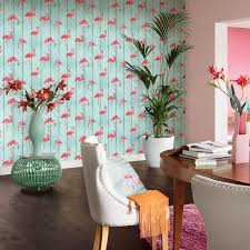 Wallpaper For Walls Teal And Pink Flamingo Wallpaper Arthouse Vintage Lagoon Holden Lake Rasch