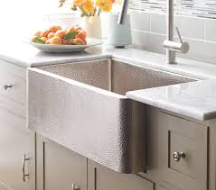 Farm Sink With Backsplash by Kitchen Exciting Tile Backsplash And Copper Apron Front Sink With