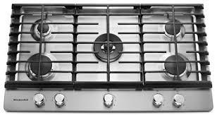 Kitchenaid Induction Cooktop 36 36 U0027 U0027 5 Burner Gas Cooktop Kcgs556ess Kitchenaid