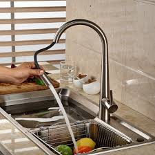 Discounted Kitchen Faucets by 59 34 Buy Here Deck Mount Pull Out Kitchen Faucet Brushed