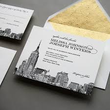 wedding invitations new york new new york city skyline wedding invitation by steel petal press