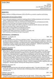Maintence Resume 4 Building Maintenance Resume Authorize Letter