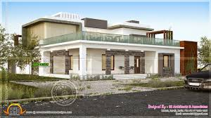 contemporary house final view kerala home design and floor plans