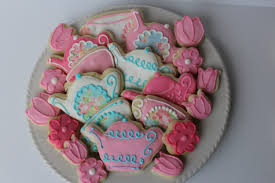 bridal shower tea party favors tea party sugar cookies bridal shower cookie favors tea