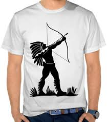 desain kaos archery jual kaos suku indian beli kaos distro murah online di satubaju com