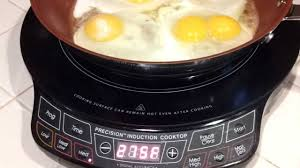 nuwave pic precision induction cooktop fried eggs youtube