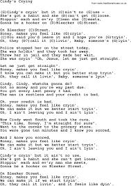 U Got It Bad Lyrics Cindy U0027s Crying By Tom Paxton Lyrics And Chords