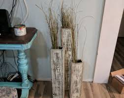 Floor Decorative Vases Set Of 24 And 28 Tall Rustic Floor Vases Wooden